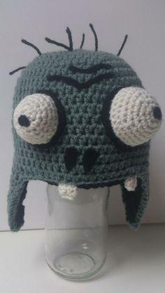 Crochet Plants vs Zombies: Zombie Hat. Pattern soon available - pukado blogspot nl