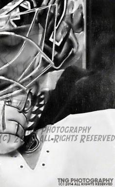 NHL Winnipeg Jets Goalie Ondrej Pavelec 7x9 Vintage Metallic Hockey Mask Art Print Photo 2483 | eBay