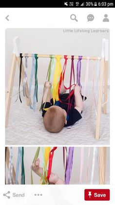 Sensory play ideas for babies rainbow ribbon baby play newborn, baby play idea activities for playing with your baby 3 month old 6 month old learning at home exploring touch, feel, taste, small and sound exploring the 5 senses Baby Sensory Play, Baby Play, Baby Sensory Ideas 3 Months, Sensory For Babies, Diy Baby Toys 6 Months, Diy Toys For 5 Month Old, Infant Activities, Activities For Kids, 4 Month Old Baby Activities