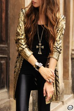 Romwe gold cardigan