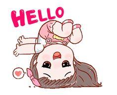 Cartoon Girl Images, Emoji Images, Cute Cartoon Pictures, Cute Cartoon Girl, Cute Love Cartoons, Cartoon Gifs, Cute Love Pictures, Cute Love Gif, Hi Gif