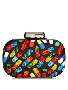 Pop Pill bead-embellished box clutch | Sarah's Bag | MATCHESFASHION.COM UK
