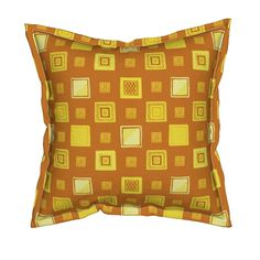 Serama Throw Pillow featuring Gold and Platinum Frames by Cheerful Madness!! by…