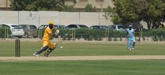 KPK Player playing cut shot at point at UBL Sports Complex Karachi.