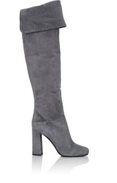 Prada Suede Over-The-Knee Boots at Barneys New York