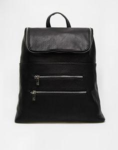 ASOS Chunky Zip Backpack with Zip Pocket