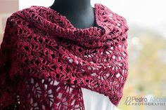 Mist Stole: free crochet pattern. LM, check out Marietta Conradie's board w/ crochet & knitting ideas