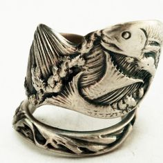 Spoon Ring Unique Vintage Fish Souvenier Sterling Ring, Handcrafted in Your Size (2732). $63.00, via Etsy.
