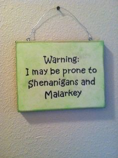 I LOVE this!!! Funny Wall Sign St Patrick's Day Irish Gift  by TuckersMercantile, $8.95