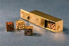Dice Games, Fun Games, 6 Sided Dice, Oldest Bible, Knight In Shining Armor, Las Vegas, Game Pieces, Metal Box, Little Boxes