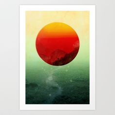 In the end, the sun rises Art Print by Budi Satria Kwan - $19.97 ~ Eye-popping. I love this!