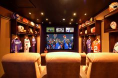 Home Theaters & Man Cave Interior Designs Inspired by Super Bowl ...