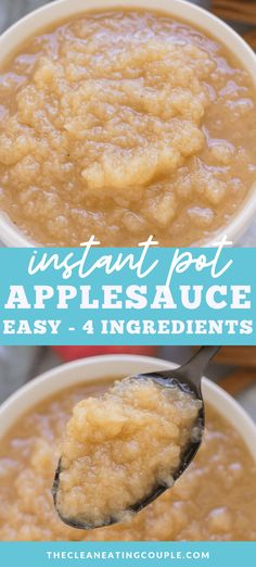 Canned Applesauce, Homemade Applesauce, Applesauce Recipes, Easy Whole 30 Recipes, Easy Clean Eating Recipes, Apple Recipes, Snack Recipes, Whole30 Recipes, Pureed Recipes