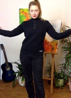 Kaufe meinen Artikel bei #Kleiderkreisel http://www.kleiderkreisel.de/damenmode/strickpullover/119009682-schwarzer-seglerpulli-segelpulli-strickpullover-hipsterpulli