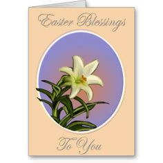 Easter Lily in Bloom Greeting Cards #easterblessings #happyeaster #eastercards