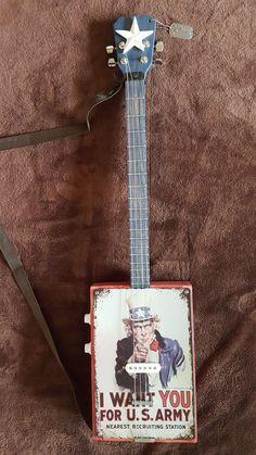 Cigar Box Projects, Cigar Box Guitar, Interactive Art, Custom Guitars, Guitar Design, Set You Free, Guitar Amp, Yard Sale, Music Instruments