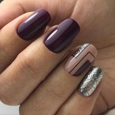 29 Trendy nail art ideas for winter classy Classy Nail Designs, Winter Nail Designs, Nail Art Designs, Nails Design, Latest Nail Art, Trendy Nail Art, Fancy Nails, Cute Nails, Hair And Nails