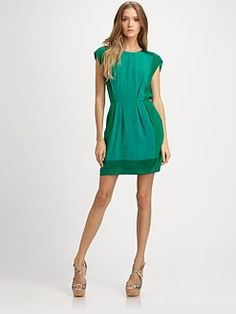 Rebecca Taylor. Patched Silk Jacquard Dress. <--- love the dress, and the designer's name isn't too bad either ;)