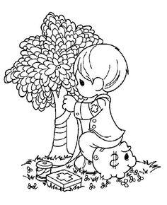 Coloring pages precious moments 59