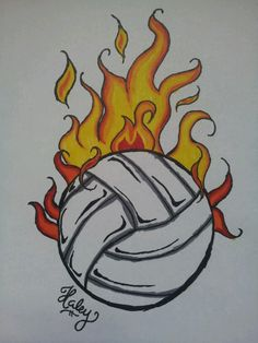 Ideas Sport Volleyball Art For 2019 Sports Drawings, Cool Art Drawings, Pencil Art Drawings, Easy Drawings, Drawing Sketches, Drawing Ideas, Summer Drawings, Volleyball Crafts, Volleyball Posters