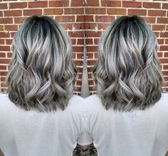 Grey hair Granny hair Gray hair More Mais Transition To Gray Hair, Silver Grey Hair, Corte Y Color, Wild Hair, Grunge Hair, Hair Highlights, Silver Highlights, Platinum Highlights, Great Hair