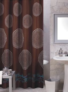 brown and blue shower curtains - Google Search