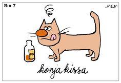 Kissat 07 Cat Art, Funny Animals, Cat Things, Animal Humor, Comics, Fictional Characters, Friends, Amigos, Comic Book
