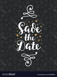 Save The Date Wedding Invitation Card. Modern Calligraphy. Hand Written Brush Lettering. Vintage Style. Trendy Typography Design. Vector Illustration. Download a Free Preview or High Quality Adobe Illustrator Ai, EPS, PDF and High Resolution JPEG versions.
