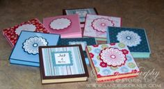 Stampin' Up Holiday Gift Ideas Holiday Mini Post It Notes Holder