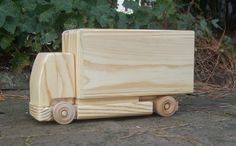 European Wooden Toy Flatnose Box Truck by MyFathersHandsLLC