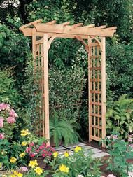 Rustic Natural 615 Pergola garden arbor is a flat top cedar arbor with lattice sides. A natural red cedar garden arbor adds interest to your garden. Diy Pergola, Cedar Pergola, Wooden Pergola, Backyard Pergola, Pergola Shade, Pergola Kits, Pergola Ideas, Arbor Ideas, Gate Ideas