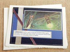 Luminescence  handmade sewn card by bluestemhandmade on Etsy, $5.00