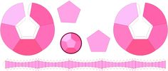 this is a template to bulit a Rose Quartz papercraft gem from steven universe…
