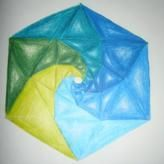 hexagon with golden spiral?