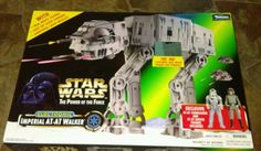 NEW IN BOX 1997 STAR WARS POWER OF THE FORCE ELECTRONIC AT-AT WALKER #Kenner