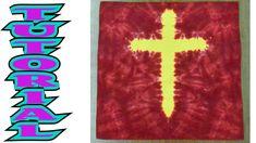 How to Tie Dye a Cross Design [Full Tutorial] Bible School Games, Tie Dye Folding Techniques, Betty Boop Birthday, Tie Dye Crafts, How To Tie Dye, Puffy Paint, Silk Art, Tie Dye Shirts, Sunday School Crafts