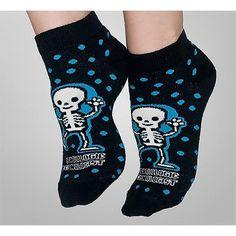 "Anklet Socks with ""Radiologic Technologist"" Struttin' Skeleton Graphic"