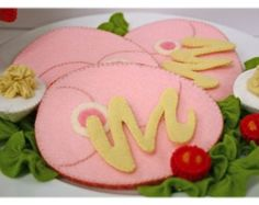 Natural Merino Wool Felt Play Food  Baked Ham Dinner
