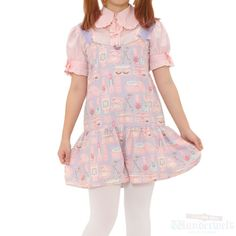 [♡ There is a commodity of Emily Temple cute ♡] Cosmetics pattern overalls Lovely cosmetics are drawn by pastel color. Perfect for active people. http://www.wunderwelt.jp/products/detail1423.html