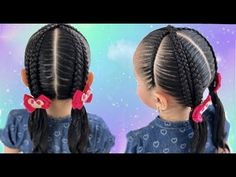 Braid hairstyle for school / Cross braids on false braids / braids Braided Hairstyles For School, Baby Girl Hairstyles, African Hairstyles, Afro Hairstyles, Hair Express, Curly Hair Styles, Natural Hair Styles, Girl Hair Dos, Big Braids