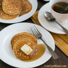 Cream Cheese Pancakes Recipes If you're on a keto diet, you'll love this easy low carb pancake recipe. It can help you get through induction or weight loss phase. Keto Cream Cheese Pancakes, Blueberry Cream Cheese Muffins, Low Carb Pancakes, Low Carb Breakfast, Bacon Breakfast, Diabetic Breakfast, Breakfast Casserole, Lowest Carb Bread Recipe, Low Carb Bread