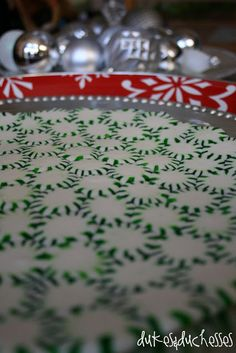 peppermint serving tray - parchment, candies, 350F, 8 minutes - do you need to varnish/shellac it?