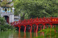 Red Bridge in Hanoi, Vietnam - ericbrandtimages.com