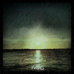 Captree, Long Island. NY - Sunset/Rainy effect.