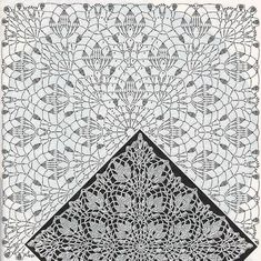 """""""Beautiful doily or blanket"""", """"Dresses Contact Olga Skiba Blouse-tunic \""""Snowdrops\"""" Assign another by blouse pattern \""""Snowdrops\"""", published in the - Salvabrani - Salvabrani Crochet Cushion Pattern Free, Crochet Table Runner Pattern, Free Crochet Doily Patterns, Crochet Cushions, Crochet Tablecloth, Crochet Pillow, Crochet Diagram, Crochet Squares, Filet Crochet"""