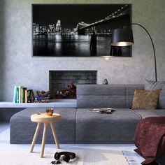 100 Best Farmhouse Living Room Decor Ideas - Home/Decor/Diy/Design Living Room Lighting, Living Room Decor, Decor Room, Bedroom Decor, Wall Decor, Best Wall Paint, Concrete Interiors, Decoration Stickers, Diy Zimmer