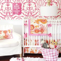 New Arrivals Urban Ikat in Fuchsia Crib Set from @PolkaDotPeacock  Live Colorfully! Full of Resolution: 10 days of giveaways from Polka Dot Peacock #livecolorfully #fullofresolution #giveaway http://site.polkadotpeacock.com/blog/2013/01/04/live-colorfully/