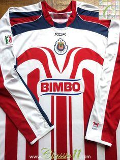 807b5e795 Relive Chivas de Guadalajara s season with this vintage Reebok home long  sleeve football shirt.