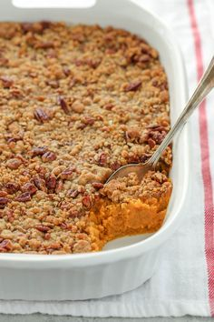 sweet potato casserole is easy to make and topped with a crunchy pecan str. This sweet potato casserole is easy to make and topped with a crunchy pecan str.,This sweet potato casserole is easy to make and topped with a crunchy pecan str. Sweet Potato Dishes, Sweet Potato Pecan, Sweet Potato Recipes, Thanksgiving Side Dishes, Thanksgiving Recipes, Holiday Recipes, Holiday Ideas, Potatoe Casserole Recipes, Sweet Potato Casserole