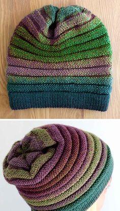 Beanie Knitting Patterns Free, Beginner Knitting Patterns, Knitting Stiches, Mittens Pattern, Knit Mittens, Loom Knitting, Free Knitting, Knitted Hats, Crochet Patterns